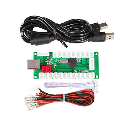 EG STARTS Zero Delay USB Encoder To PC Games Controllers For Arcade Joystick Sanwa DIY Kits Parts Mame Games (5Pin + 2.8mm Cables)