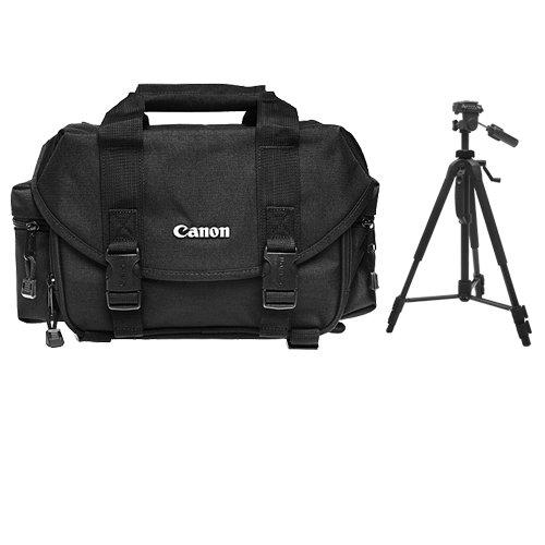 Canon 2400 Digital SLR Camera Case Gadget Bag + Tripod Kit for EOS 6D, 7D, 77D, 80D, 5DS R, 5D Mark II III IV, Rebel T6, T6i, T6s, T7i, SL1, SL2 by Canon