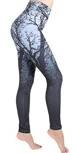 Ndoobiy High Waist Printed Leggings Women's Solid Leggings Soft Yoga Workout Pants Stretchy Capris HW2(trunk OS) by Ndoobiy