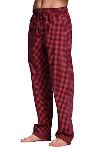 CYZ Men's 100% Cotton Poplin Pajama Lounge Sleep Pant-F1703-M