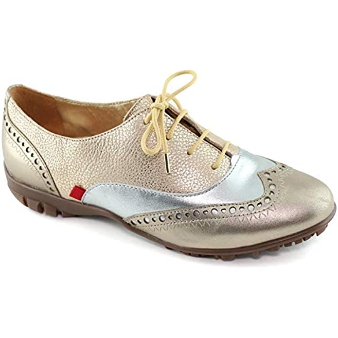 Womens Casual Comfortable Genuine Leather Lightweight Performance Spikeless Breathable Waterproof Cushion Support Laceup Golf Shoe