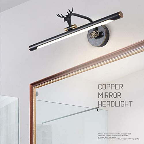 GYFYS Led Mirror Headlight Full Copper Antler Nordic Style American-Style Free Punching -