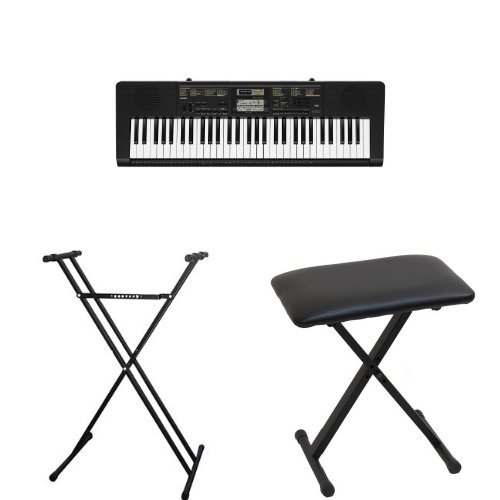 Review Of Casio CTK2400 61- Key Portable Keyboard, ARDX Double X Keyboard Stand and ARBENCH X-Style ...
