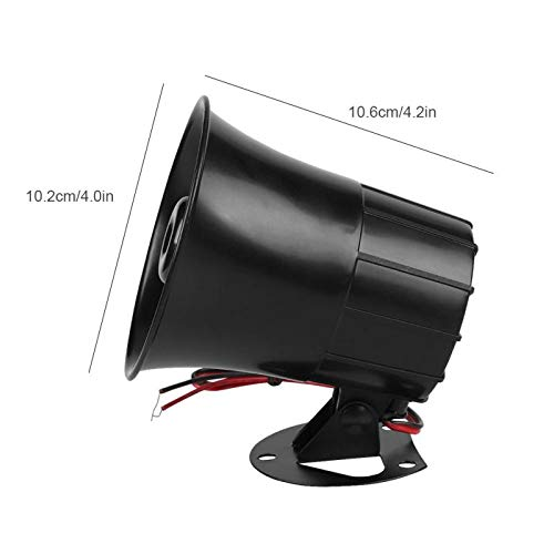 Wired Alarm Siren Horn 15W DC 6 to 12V Outdoor with Bracket for Home Security Alarm System