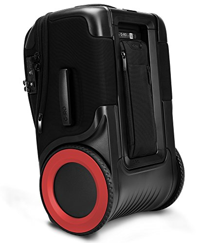 "G-RO 22"" International Expandable Carry-On Luggage: Tough Terrain Wheels, Telescoping Handle, Optional Modular Electronics, TSA-Approved"