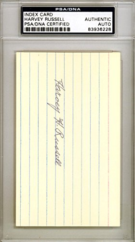 Harvey Russell Autographed Signed 3x5 Index Card Baltimore Orioles #83936228 PSA/DNA Certified MLB Cut Signatures