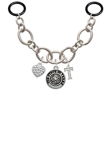 Texas Seal Jewelry Pendant (Texas State Seal - T - Initial Charm Necklace for Stethoscope)