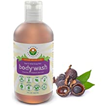 Soapberry Organic Body Wash - Acne Body Wash for Women & Men - Probiotic Sulfate Free Shower Gel - Raw & Wild Plants for Sensitive & Dry Skin - Hypoallergenic & pH Balanced, 9 Oz.-by Nature Sustained