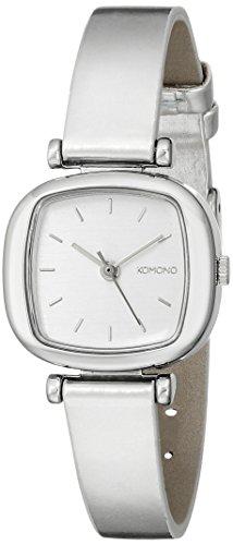 Komono moneypenny Metalic Silver reloj de mujer de cuarzo con Esfera Analógica Pantalla y Correa de PU Plata kom-w1220: Amazon.es: Relojes
