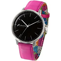 ZERONE Crossover Fantasista Utamaro Black Pink Analogue Watch