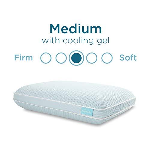 Tempur-Pedic TEMPUR-Cloud + Cooling ProHi Pillow, Memory Foam, Queen, White