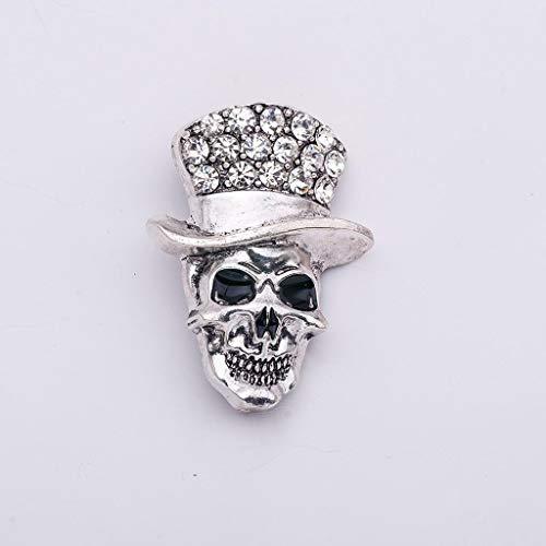 (Gothic Punk Biker Skull Skeleton Brooch Pin Halloween Jewelry Xmas Party Gift (Item -)
