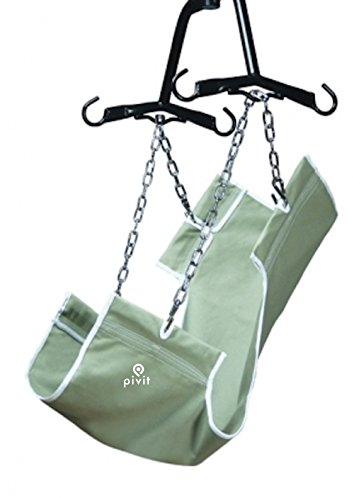 Pivit Canvas Fabric 2-Point Patient Lift Sling Without Commode Opening 220 lbs | One Size Fits Most Use with Any Lift | Strong Durable Fabric | Mobility Aid for Transferring Lifting and Safety by pivit