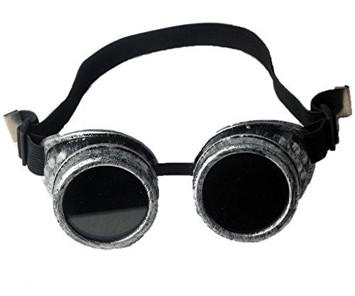 FLORATA DIY Steampunk Goggles, Retro Vintage Victorian Glasses