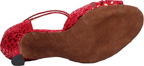 Wedding 6187 Party Tango Salabobo Womens Dance Toe Peep Shoes Cloth Heel Red Customize AQQ Cq5nCtx4w6