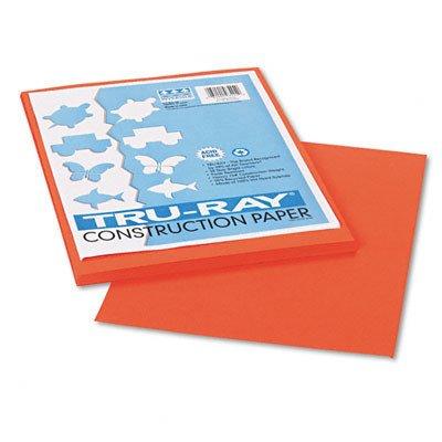 PACON CORPORATION, Tru-Ray Construction Paper, 76 lbs., 9 x 12, Pumpkin, 50 -