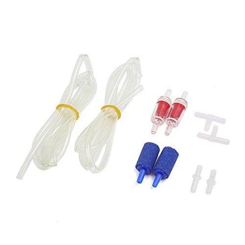 aire accesorios de la Bomba juego de aire Stones, válvulas de retención, aerolínea y conectores ()