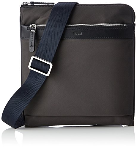 Hugo Digital L_s Zip Env 10189964 01, Shoppers y bolsos de hombro Hombre, Grau (Dark Grey), 26x28x0.1 cm (B x H T)
