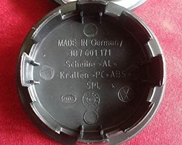 VW Wolfsburg Red Wolf Wheel Center Caps 65mm 3B7 601 171-one or tow