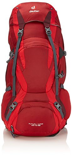 (Deuter Futura Vario 45+10 SL - Discontinued, Cranberry/Fire/Aubergine )