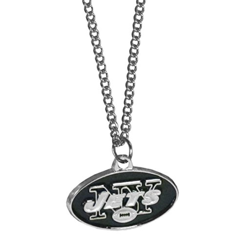 Jets Football Charm - NFL New York Jets Chain Necklace with Small Pendant, 20