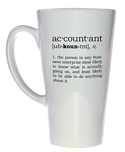 Accountant Definition Tea Mug, Latte Size ()