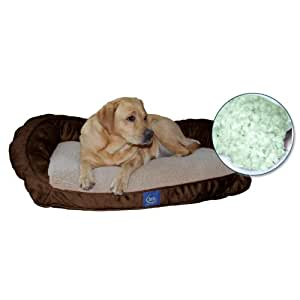 Bolster Memory Foam Pet Bed Color: Mocha