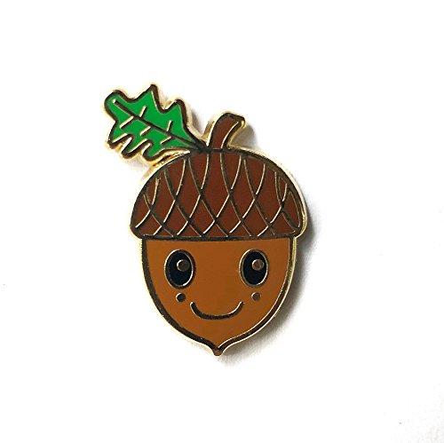 Happy Acorn Friend Hard Enamel pin