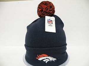NFl - Gorro con pompón, diseño de los Denver Broncos