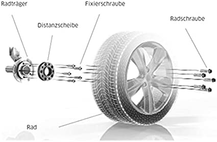 H/&R TuningHeads 0478300.DK.B6075650.Bus-T5 Spurverbreiterung Blackline 60 mm//Achse 60 mm//Achse