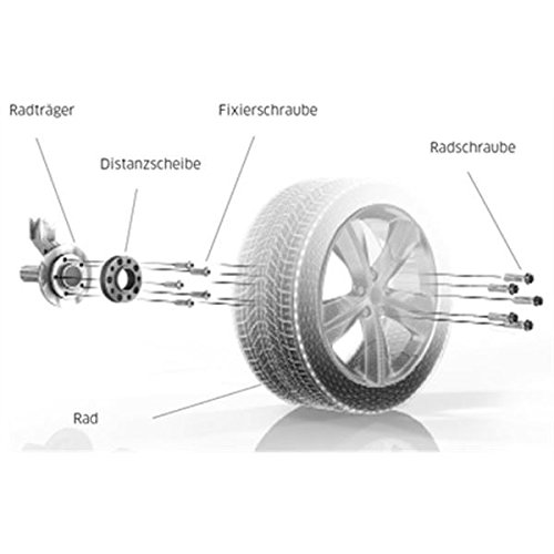 60 mm//Achse 60 mm//Achse H/&R TuningHeads 0221965.DK.6075725.E-36 Spurverbreiterung