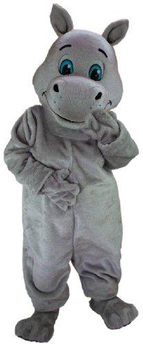 [Harriet Hippo Mascot Costume] (Hippo Mascot Costume)