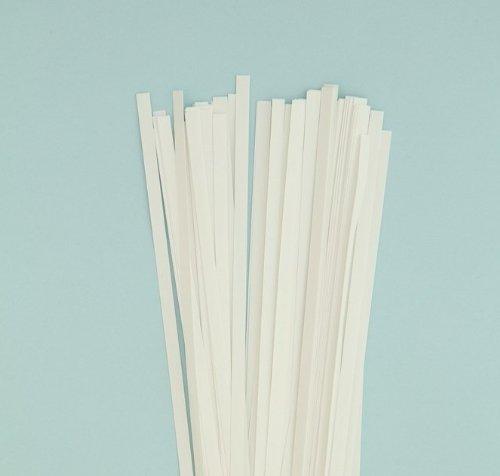 Karen Marie Klip: Quilling Papierstreifen Natur Ivory, 5x450mm, 115 g/m2. 80 Streifen Karen Marie Klip Papirmuseets By A/S