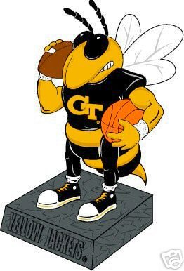 Amazon Com Georgia Tech Yellow Jackets Basketball Football Mascot