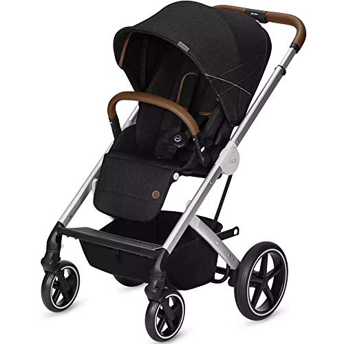 (Cybex Balios S Denim Collection Stroller - Lavastone Black/Silver)