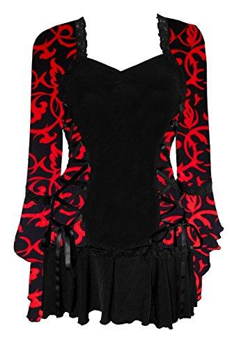 Dare to Wear Victorian Gothic Boho Women's Plus Size Bolero Corset Top Lust L ()