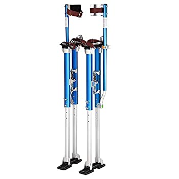 Image of Yescom 36' - 50' Aluminum Drywall Stilts Height Adjustable Lifts Tool for Sheetrock Painting Painter Taping Blue Home Improvements