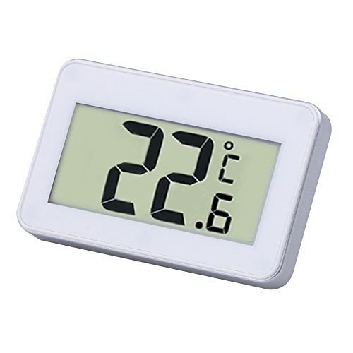 Machine Accessories Digital Lcd Thermometer Temperature Meter W/Magnet Hook For Home Office Room Kitchen Refrigerator Indoor Outdoor White/Black by Machine Accessories (Image #1)