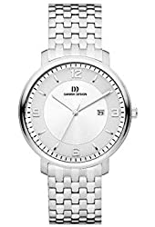 Danish Design Men's Steel Bracelet & Case Quartz Silver-Tone Dial Analog Watch IQ62Q1105