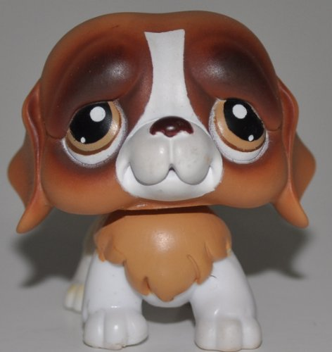 St. Bernard #229 (Brown Eyes) - Littlest Pet Shop (Retired) Collector Toy - LPS Collectible Replacement Figure - Loose (OOP Out of Package & Print)