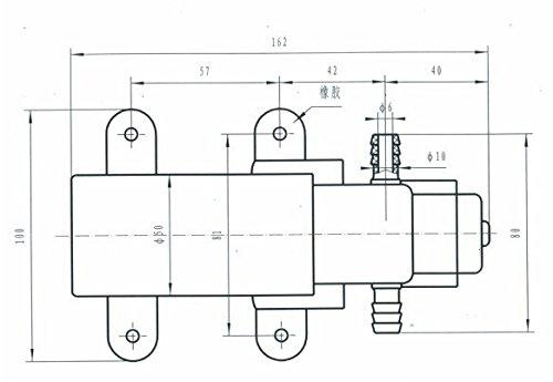Pompe NUZAMAS auto-amor/çante dehaute pression /à membrane de 12 V pour RV//caravane//bateau//marine