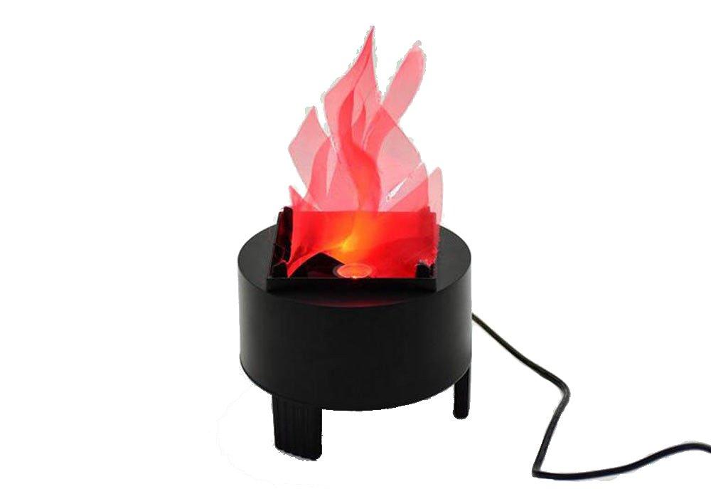 炎効果ライト人工シルクFlameブラックベースランプトーチパーティー装飾 B07C7YHP87