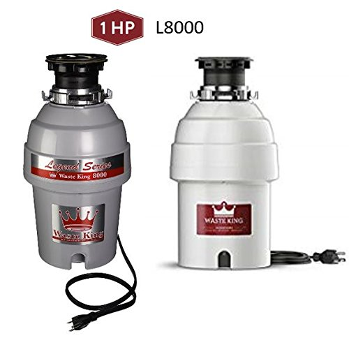 Waste King Legend Series 1 HP Garbage Disposal with Power Cord - (L-8000)