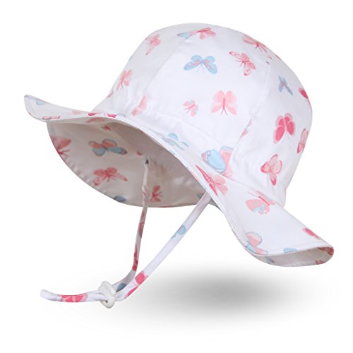 Ami/&Li tots Unisex Child Adjustable Wide Brim Sun Protection Hat UPF 50 Sunhat for Baby Girl Boy Infant Kids Toddler
