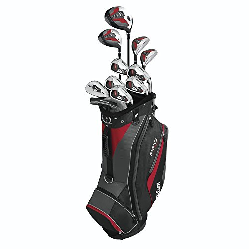 Wilson Men's Pro Fit Complete Package Golf Set, Right Hand, Standard WGGC55400