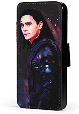 big sale 6ad5c 08b91 Marvel Infinity War Loki Phone Case Marvel Fanart faux leather flip wallet  mobile Cover for iPhone 6 Plus and 6s Plus