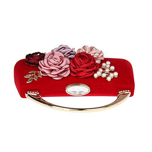 19x18cm Parti Fleur Mini B Bal de Soirée Main Fashion pour soirée 7x7inch Femme Sacs à Jours fériés soirée Sac d'autres Présente de A Pochette Et wqBqp6d