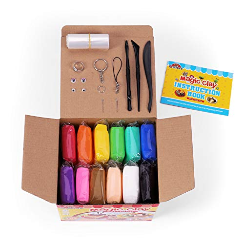Sago Brothers Modeling Clay Air Dry Ultra Light Molding Magic Clay 24 Colors, Best Kids Gifts Ever ()