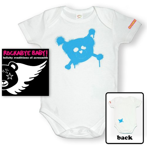 Price comparison product image Rockabye Baby! Lullaby Renditions of Aerosmith + Organic Baby Bodysuit (Blue)