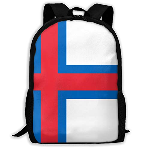 Flag Of Faroe Islands School Backpack Casual Daypack Travel Outdoor Camouflage Backpack School Bookbag Lightweight Laptop Backpack